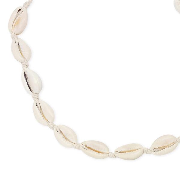 collier coquillage beige perle de jade 3