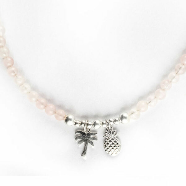 collier enfant pierres quartz rose