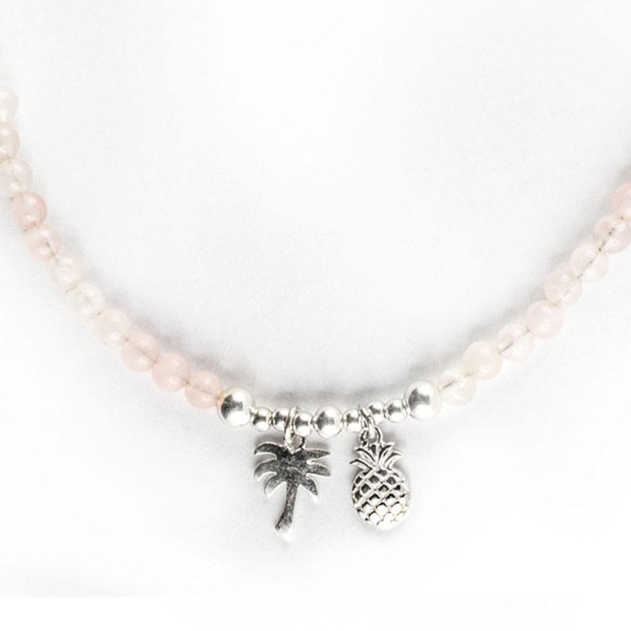 collier enfant pierres quartz rose