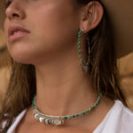 Collier ras de cou Indian Vibes perle de jade