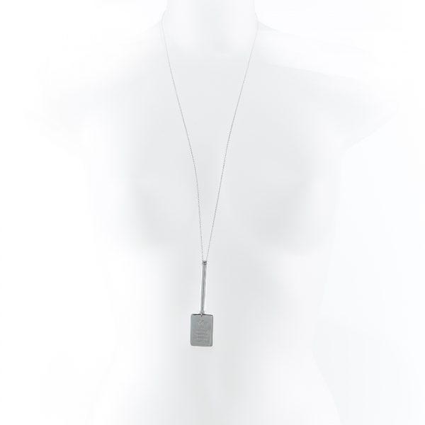 Collier Perle de Jade sautoir argent massif (925)