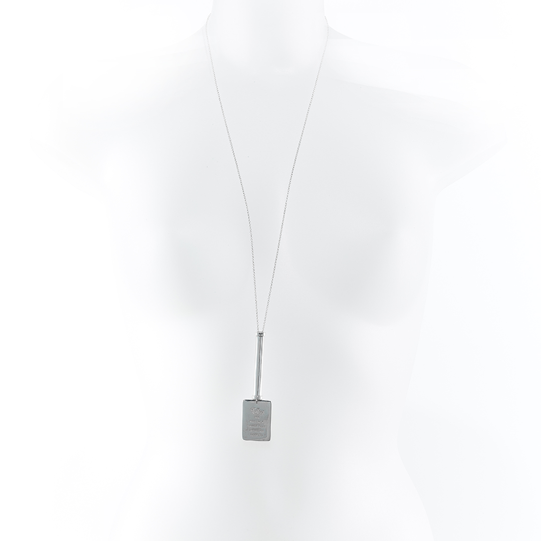«Follies » military-style tube necklace in solid silver