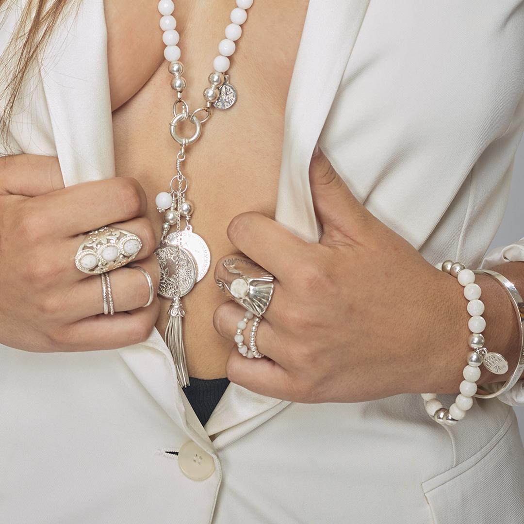 Bague angel skull en argent massif (925) Perle de Jade