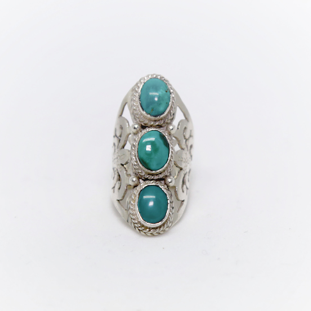 """EIVISSA"" silver and turquoise ring"