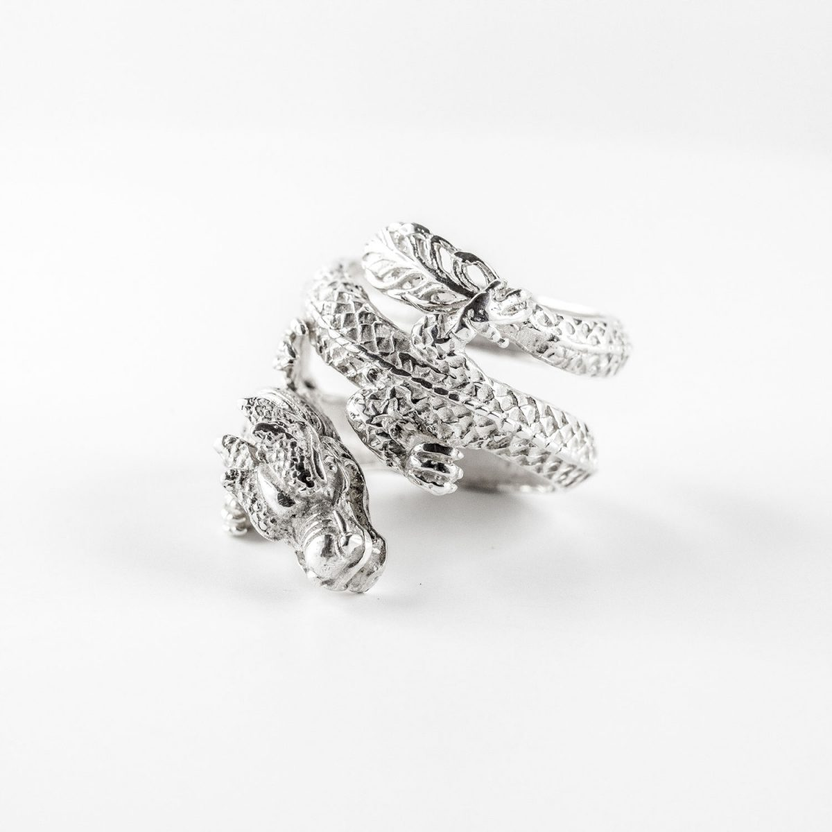 "Solid silver ""dragon"" ring"