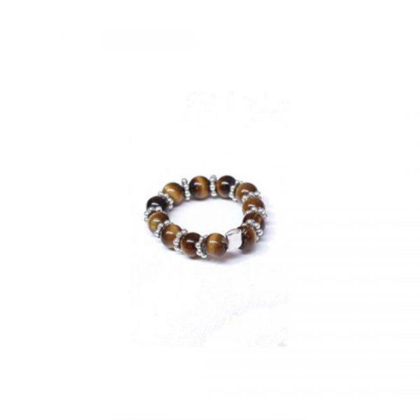 Bagues argent massif (925) et pierre oeil de tigre Perle de Jade