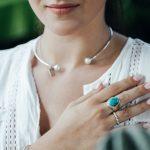 Bague argent massif (925) avec turquoise India Perle de Jade