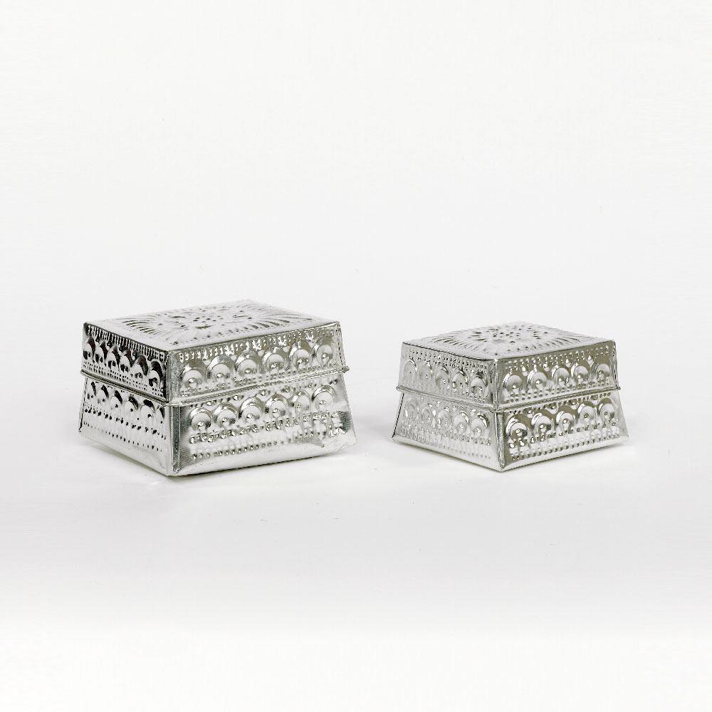 Perle de Jade Boite à bijoux en métal
