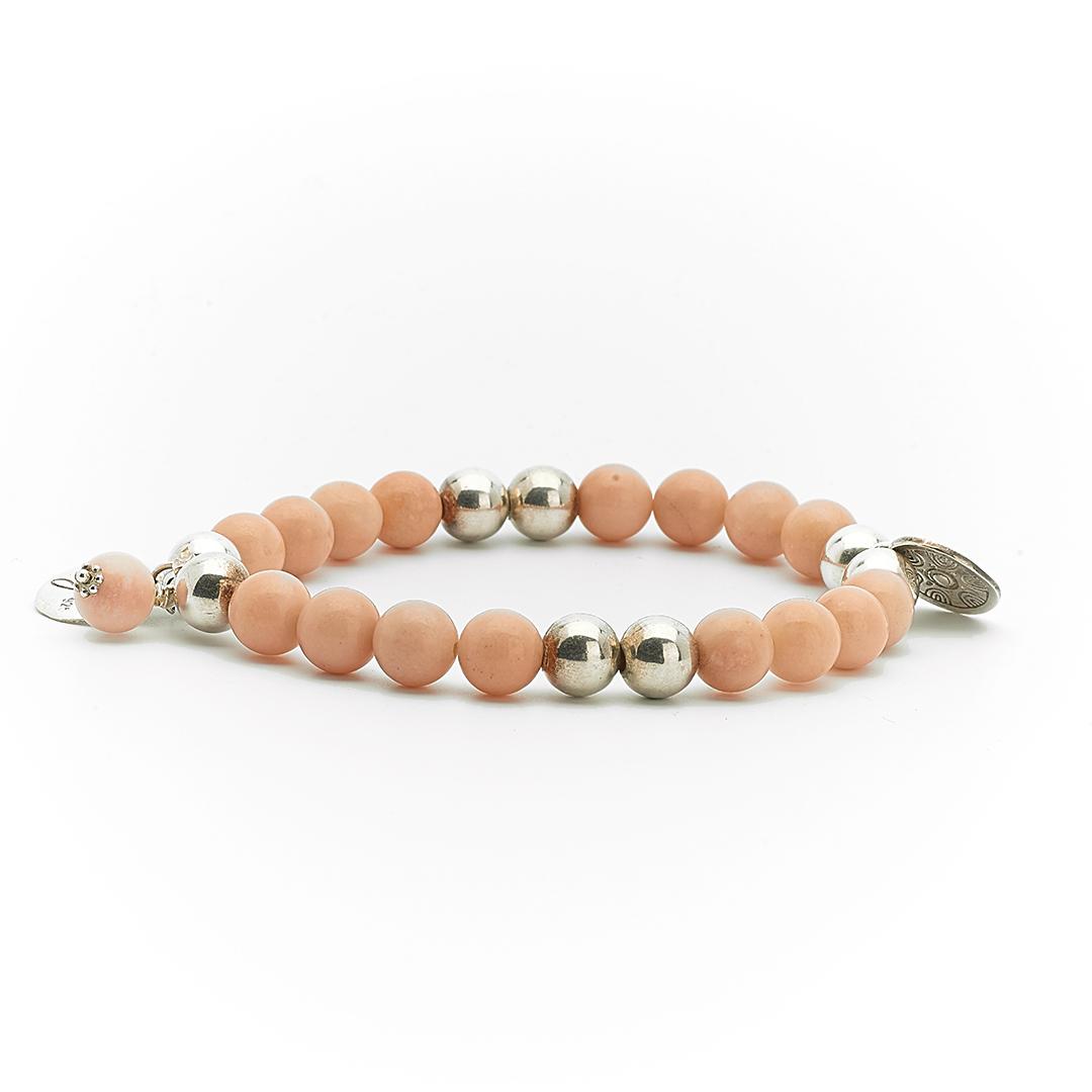bracelet élastique good karma perle de jade