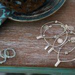 Perle de Jade bracelets en argent massif (925)