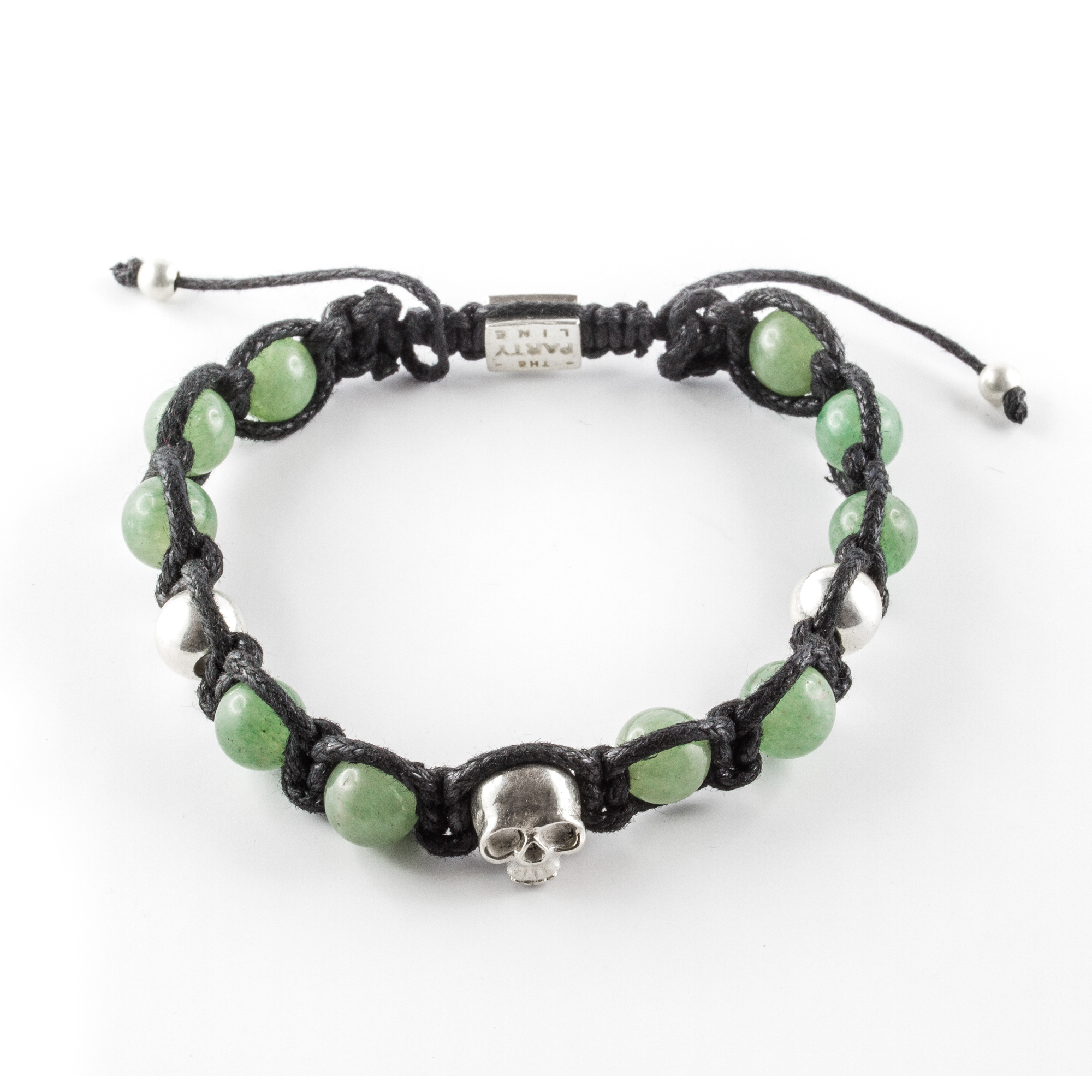 Macrame Bracelet with aventurine and silver