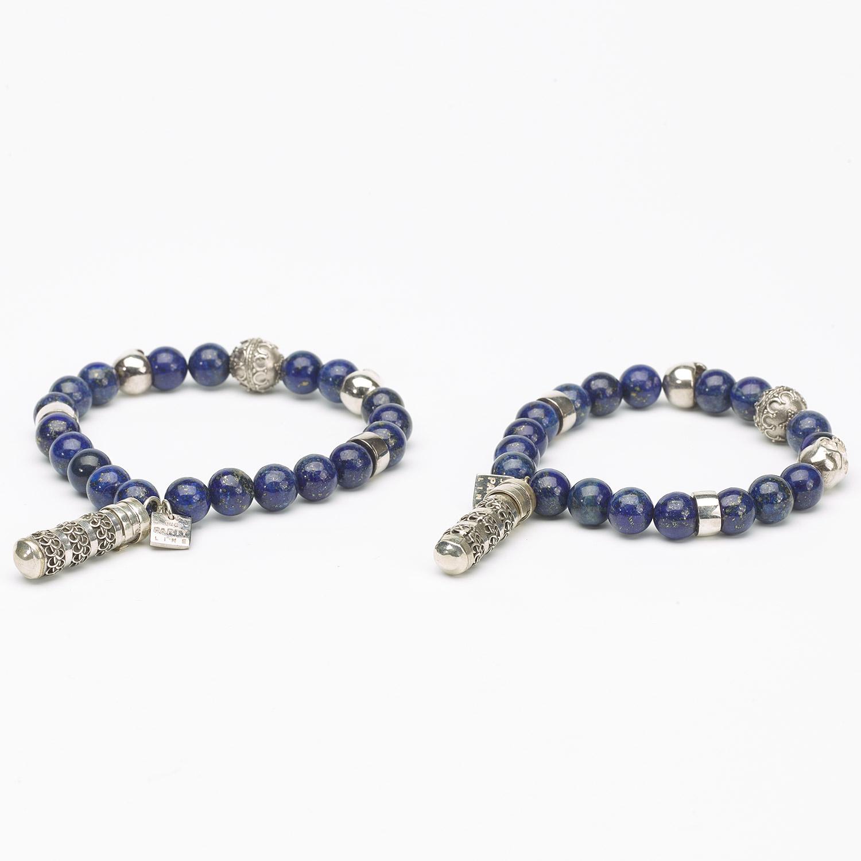 Bracelet pierres naturelles Perles en Jade bleue