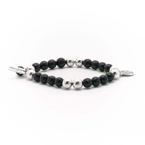 perle-de-jade-bracelet-argent-massif-925-quartz-noir