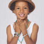 Perle de Jade bracelet en cuir bleu et argent massif (925) gravé Sweet like honey