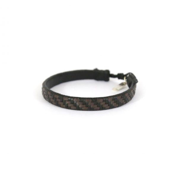Bracelet cuir véritable  et argent massif 925 Perle de Jade