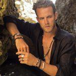 Bijoux hommes Bracelet en cuir et argent massif 925 Perle de Jade