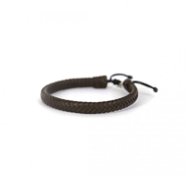 Bijoux pour homme - Bracelet en cuir et argent massif 925 -Maison Perle de Jade