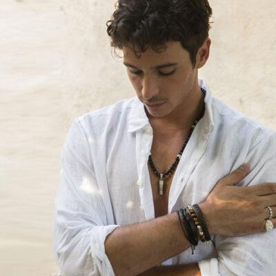 Bracelet en cuir et argent massif 925 Maison Perle de Jade