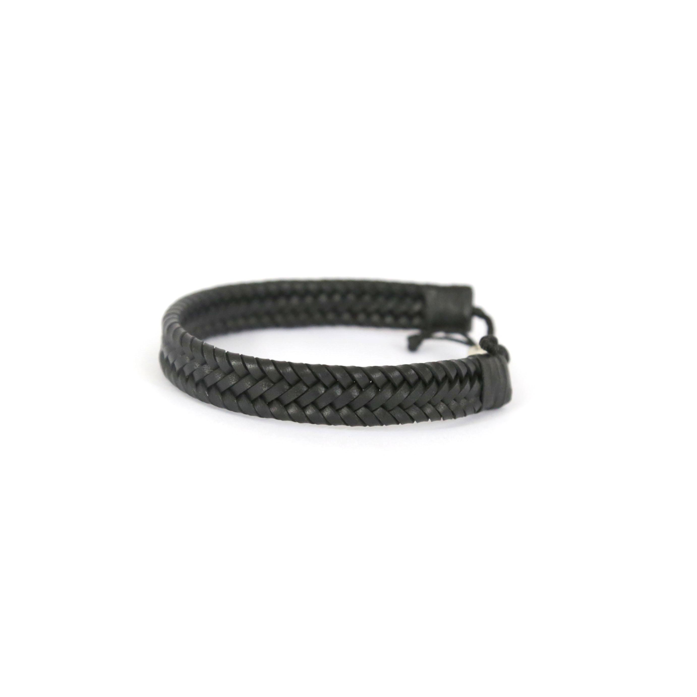 Bracelet en cuir et argent massif 925 Perle de Jade - créateur de bijoux uniques