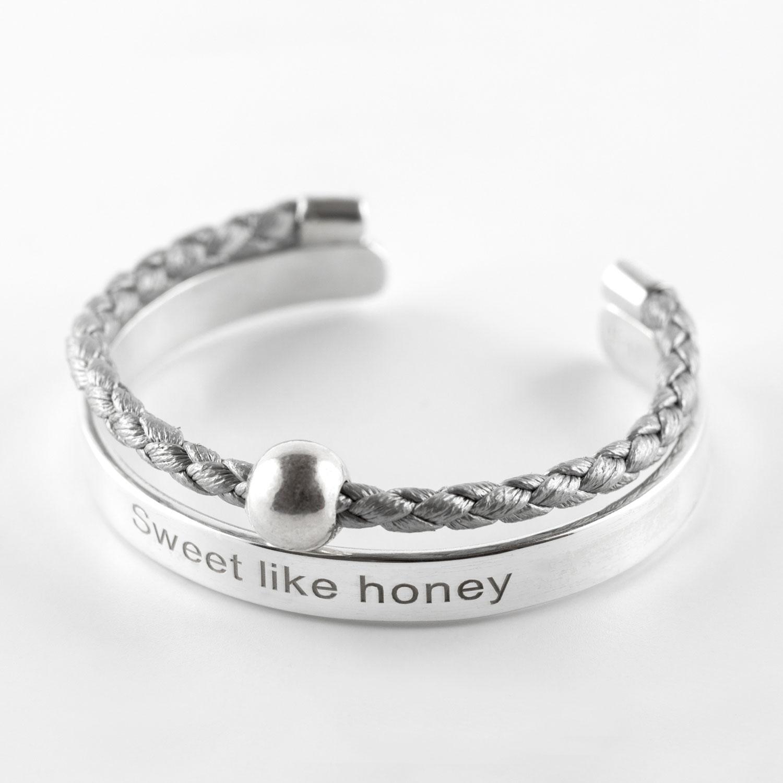bracelet jonc enfant gris perle de jade