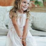 "Perle de Jade bracelet enfant en argent massif (925) gravé"" Sweet Like Honey"" et cuir rose"