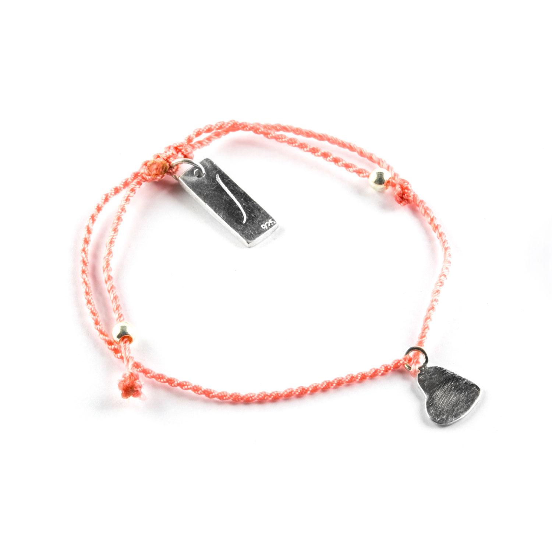 bracelet enfant fil orange perle de jade