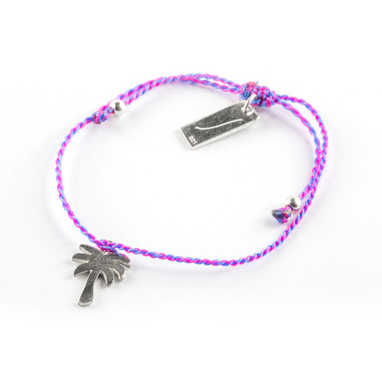 bracelet fil violet pour enfant perle de jade