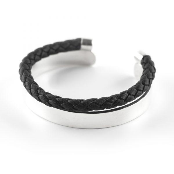 """Bracelet jonc argent massif 925 """"Release"""" Perle de Jade"""