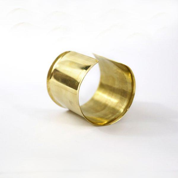 Bracelet manchette bronze Perle de Jade