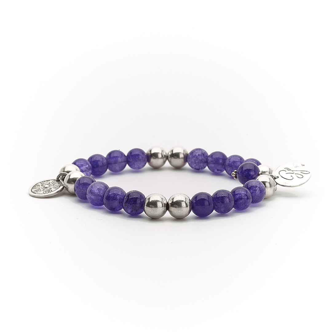 """""""Good Karma"""" Bracelet with Amethyst and silver"""