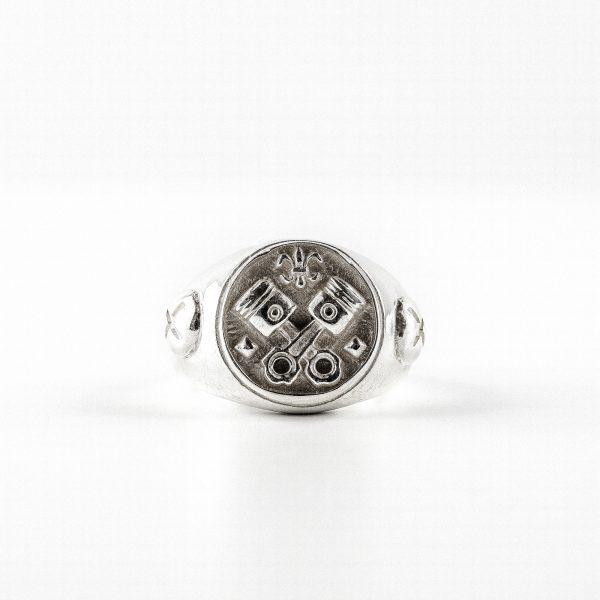 """Chevalière modèle """"Eternal"""" en argent massif (925) Perle de Jade"""