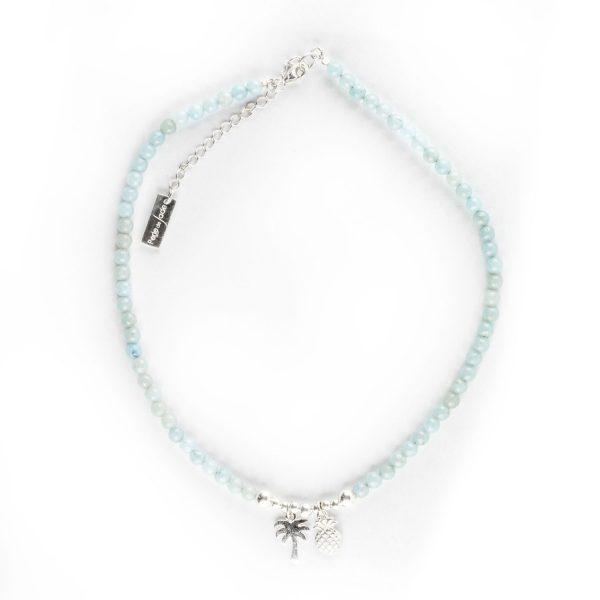 Perle de Jade collier enfant perles Quartz bleu Sweetie