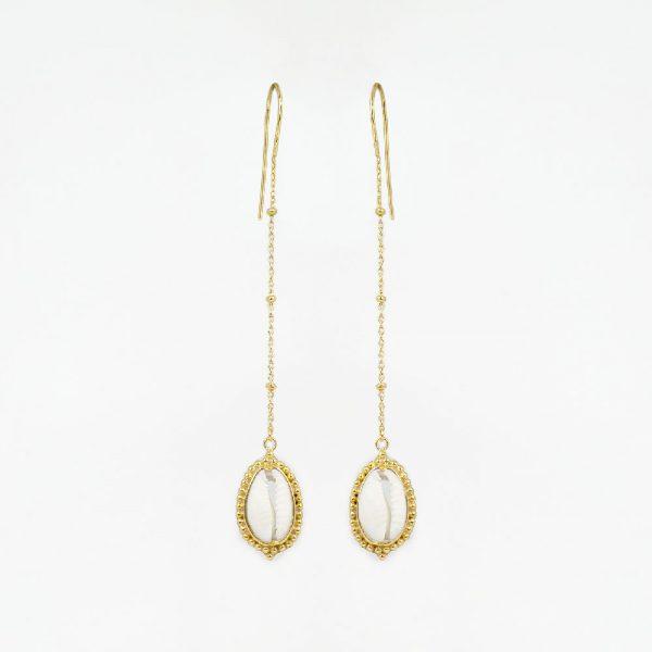 Perle-de-Jade-boucles-oreilles-coquillage-vermeil-or