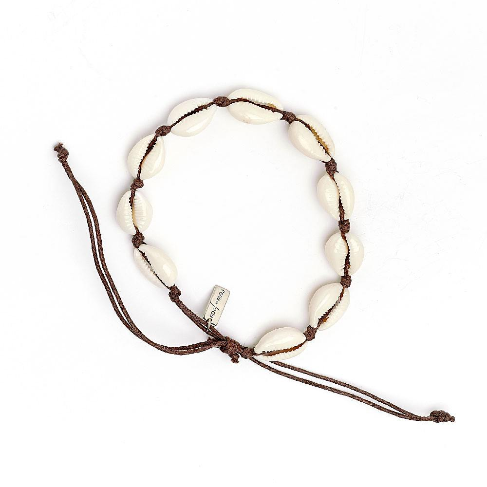 Perle de Jade chaîne de cheville coquillage