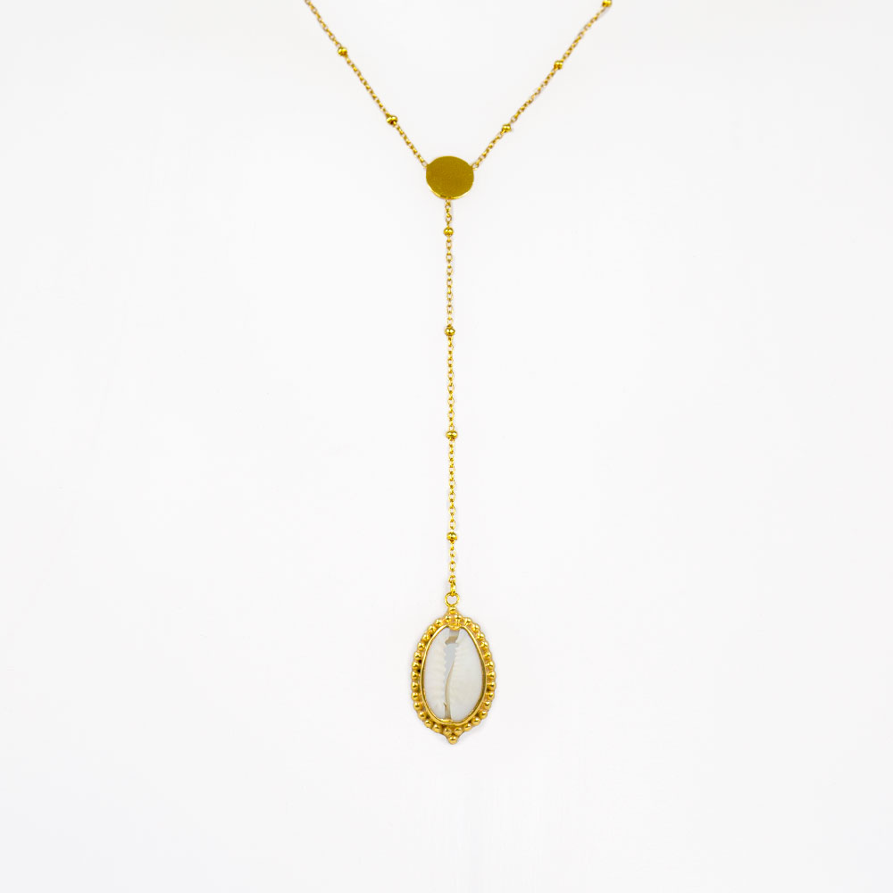 Seashell necklace in 18 carat vermeil