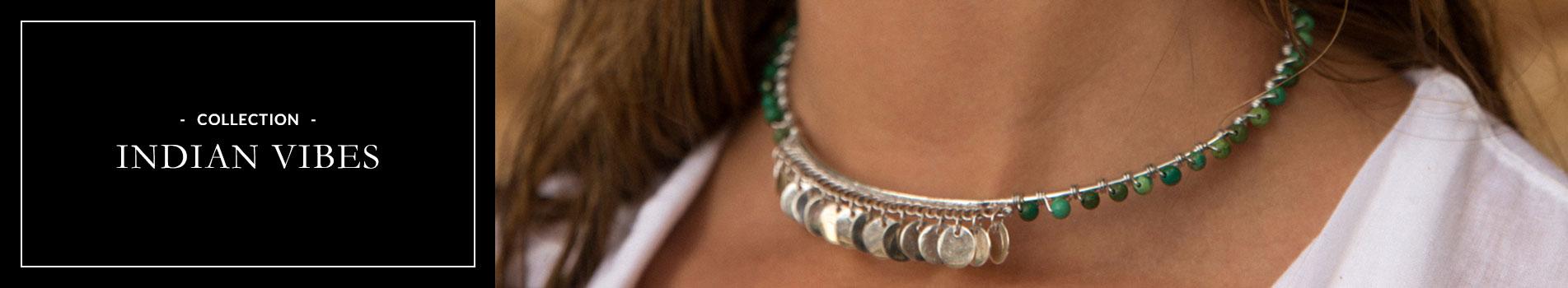 Perle de Jade Indian Vibes bijoux argent et turquoise