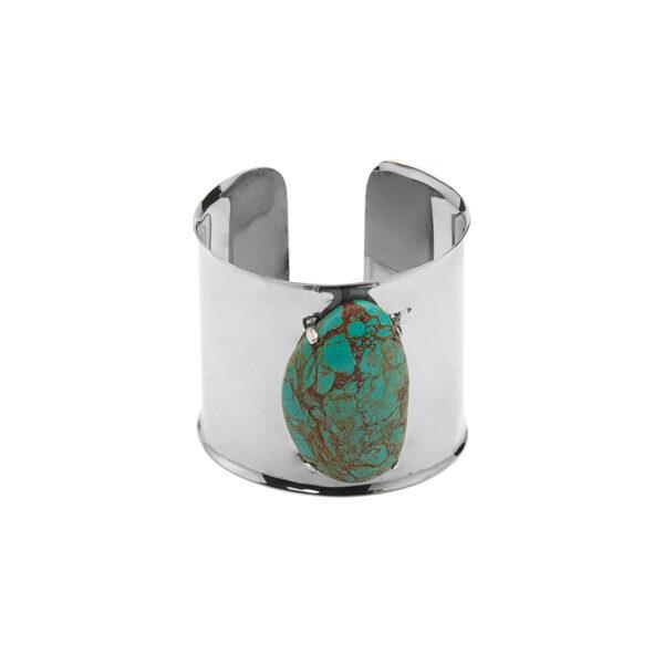 perle de jade manchette argent turquoise site