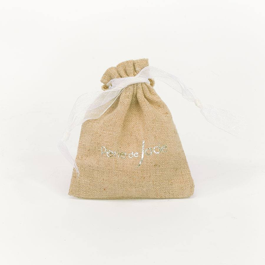 Sac packaging lin naturel Perle de Jade pour ranger vos bijoux