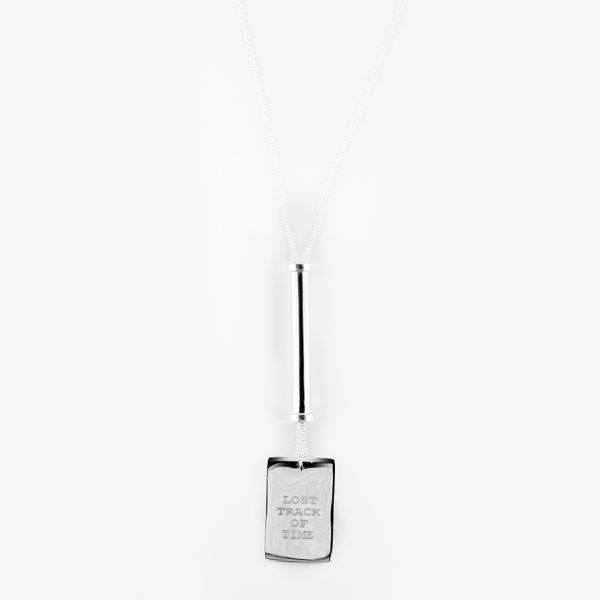 collier tube argent massif lost track