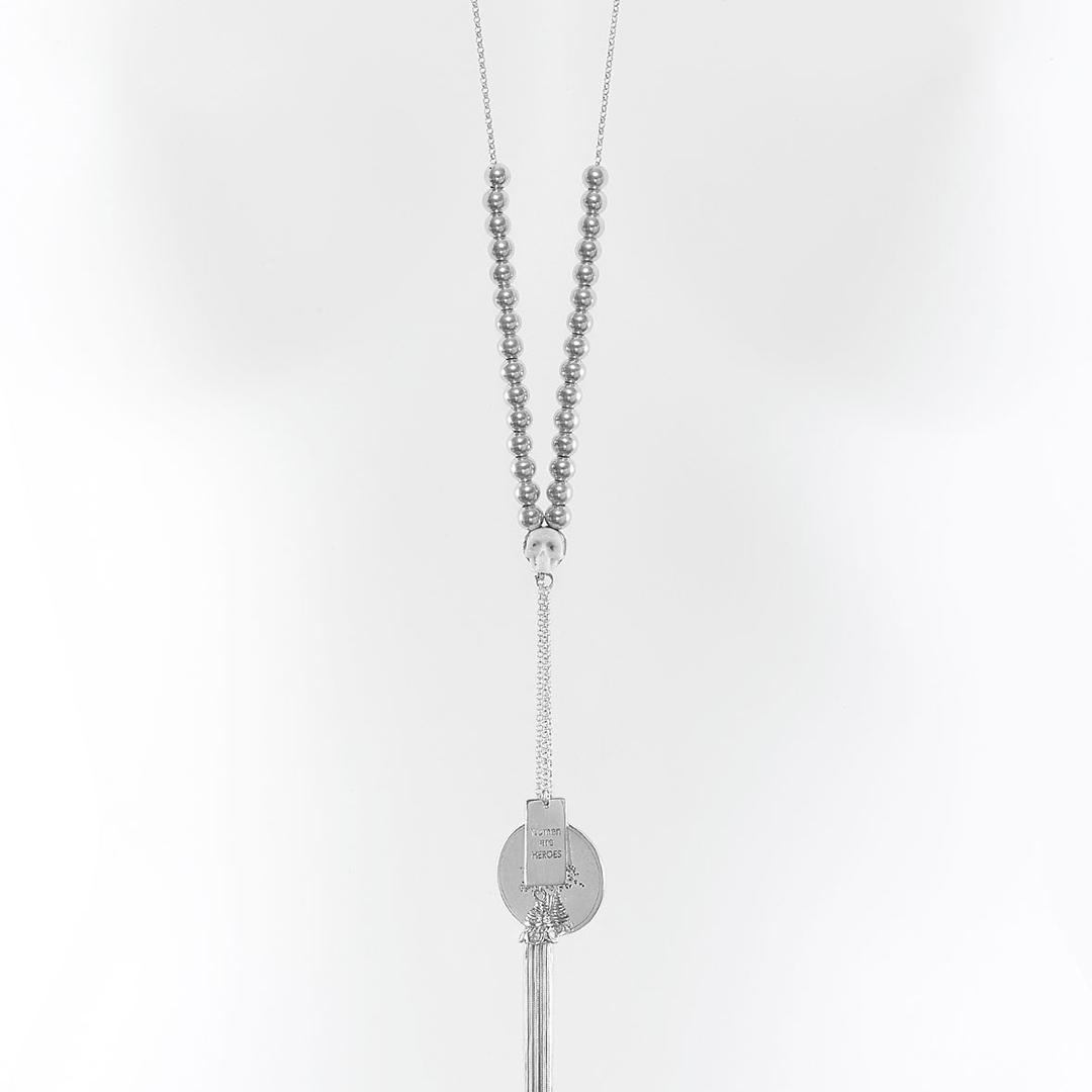 Collier Perle de Jade argent massif