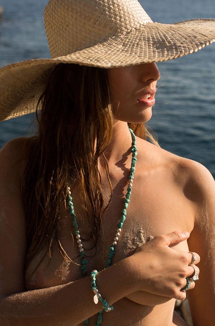 Perle de Jade Colliers en pierres semi-précieuses