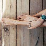Chaîne de cheville Argent et Turquoise Perle de jade - Bijoux de créateurs pour femme