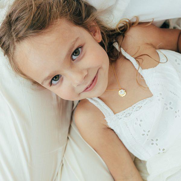 Collier enfant vermeil cœur - Bijoux pour enfants - Perle-de-Jade