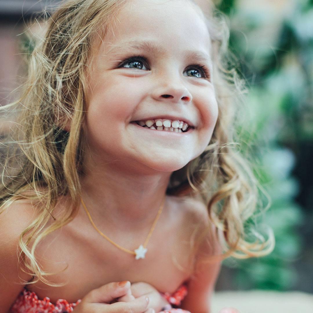 Collier enfant étoile vermeil Perle de Jade