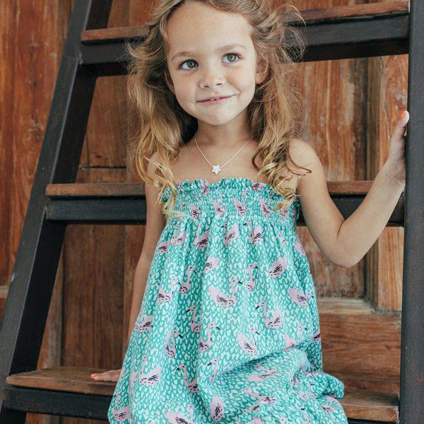 Perle-de-Jade-collier pour enfant en vermeil-etoile