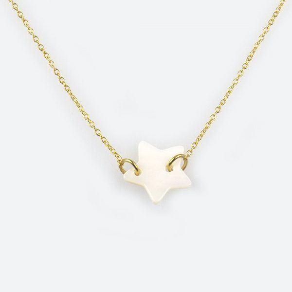 Collier enfant étoile vermeil Perle de Jade - Bijoux de créateur