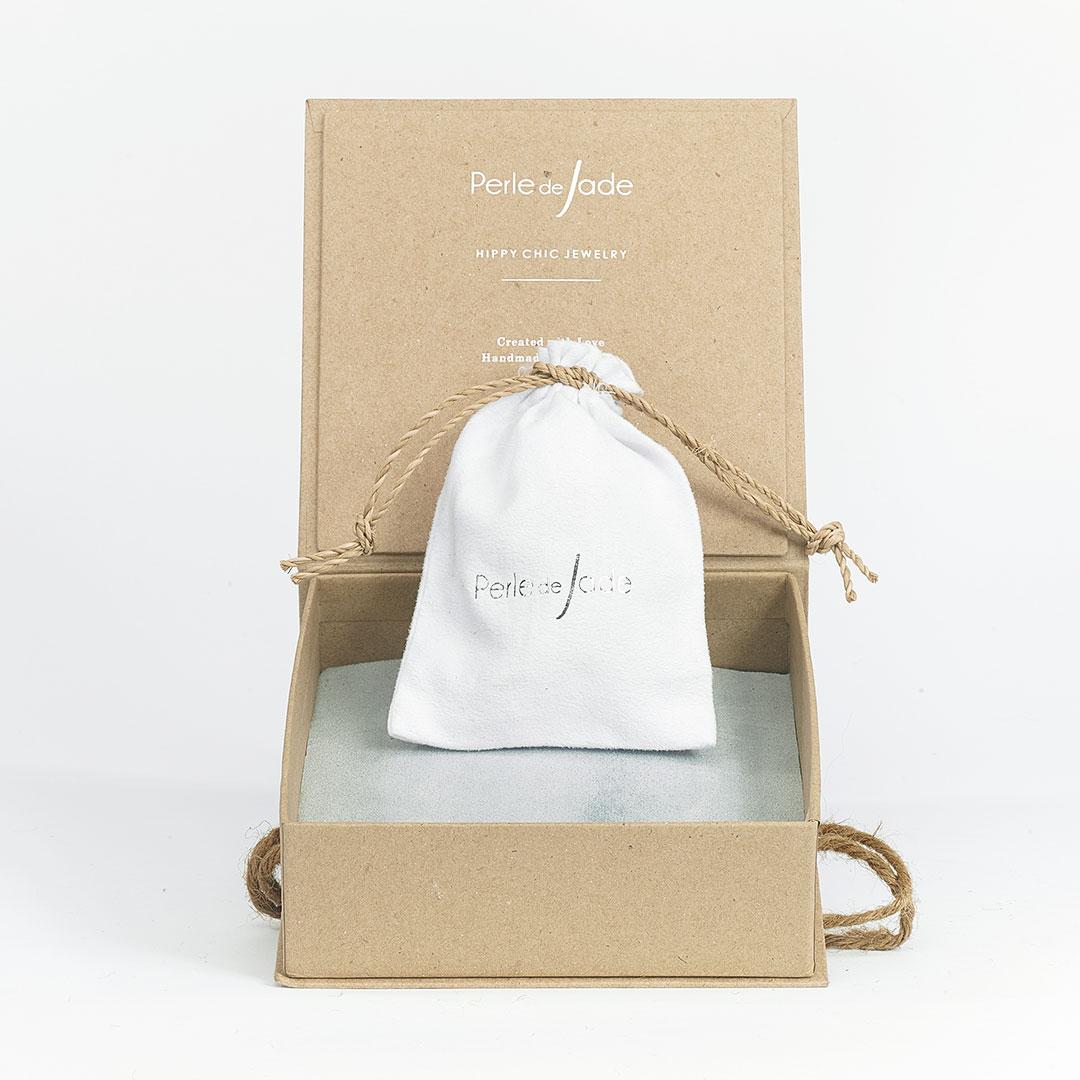 Boîte à bijou marron Perle de Jade