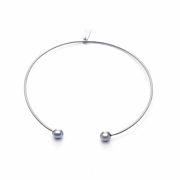 Perle de jade collier argent 925 nacres symplicity