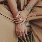 Vermeil and mother-of-pearl ring