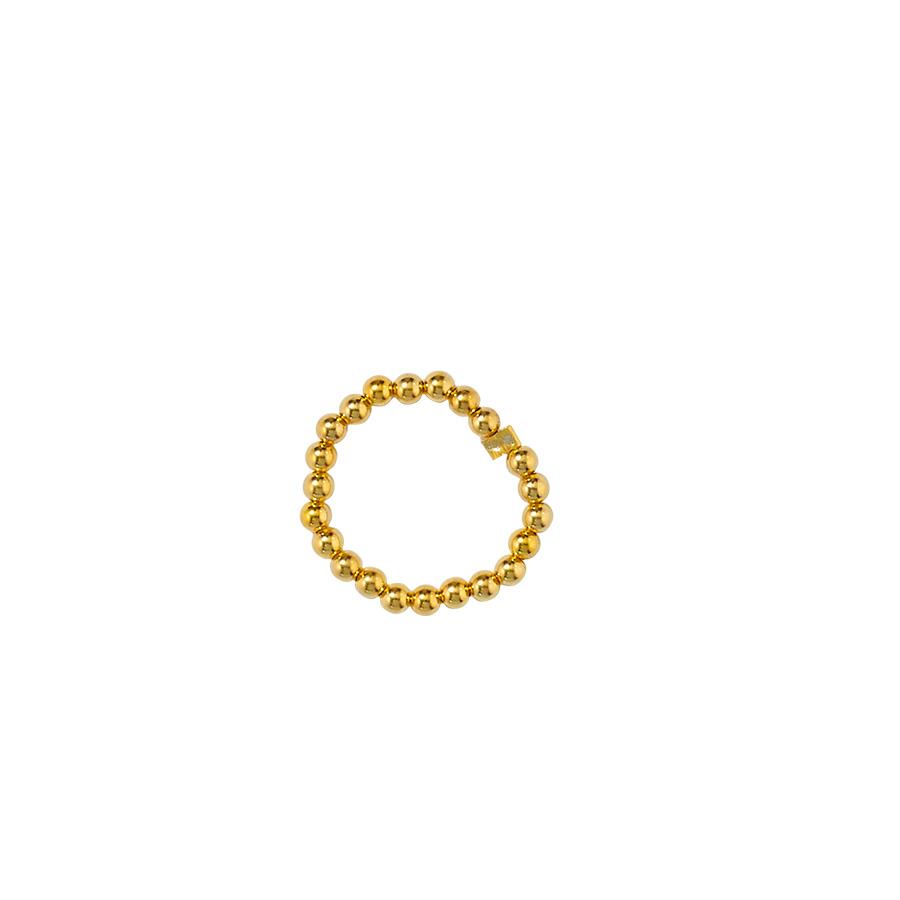 bague élastique vermeil plaqué or